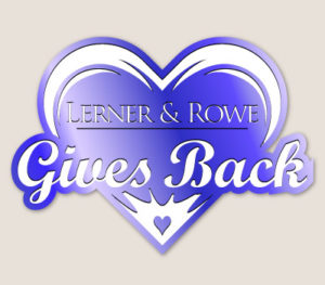 Lerner and Rowe Gives Back Dark Blue Heart