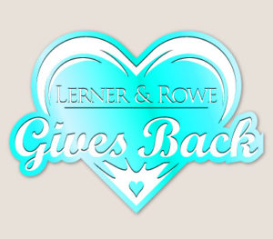 Lerner and Rowe Gives Back Light Blue Heart Level