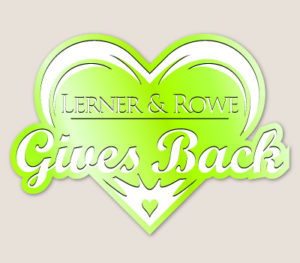 Lerner and Rowe Gives Back Light Green Heart Level