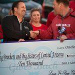 Kevin Rowe & Paul Shake Hands at 2015 Paul's Car Wash