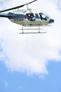 helicopter golf ball drop | 2016 charity golf classic