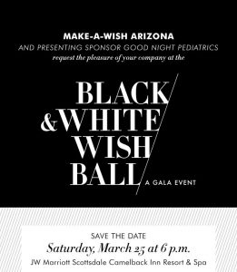 2017 make a wish black and white ball