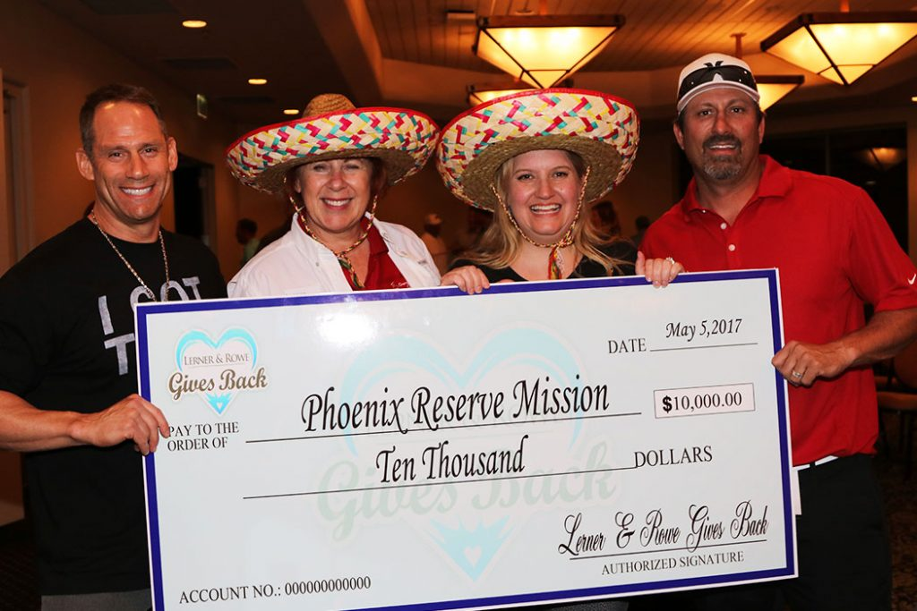 Phoenix Rescue Mission check donation 2017 golf classic