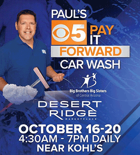 10th Annual Paul's Pay it Forward Car Wash