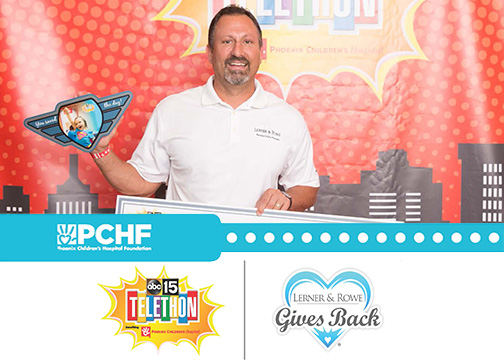 LRGB Check Donation to Benefit PCHF