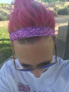 Pink Hair for Pink Out 5k