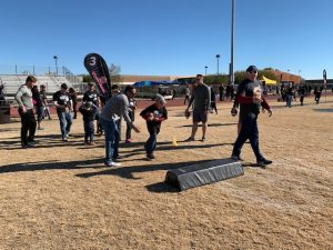Running Drills - Fiesta Bowl UCF Player Military Outreach Day