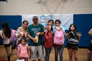 4 Students at 2019 Phoenix Backpack Giveaway