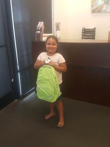 Backpack Giveaway in Yuma - Lerner and Rowe