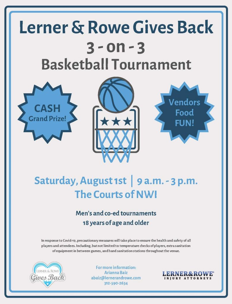 3-on-3 basketball tournament flier