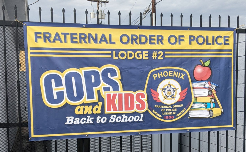 Cops and Kids Back to School event