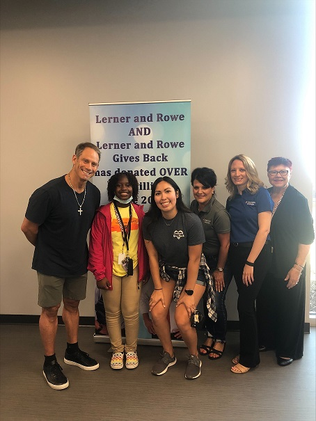 Merrillville backpack giveaway group photo