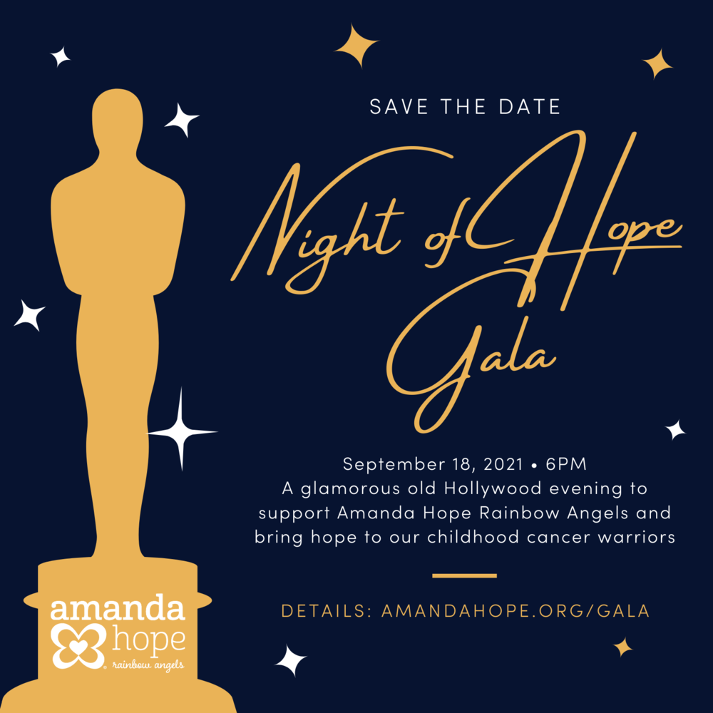 Night of Hope Gala save the date card